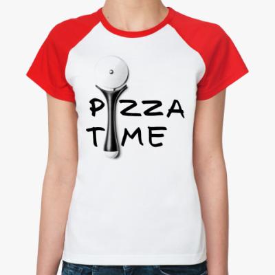 Женская футболка реглан Pizza Time