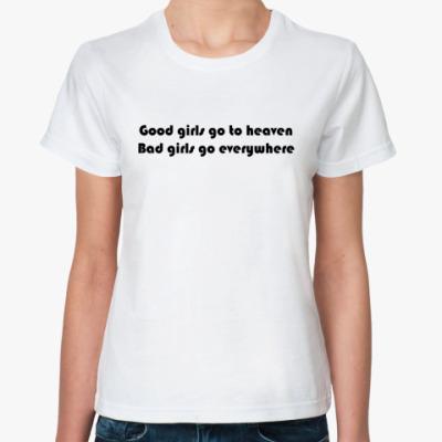 Классическая футболка good&bad girls