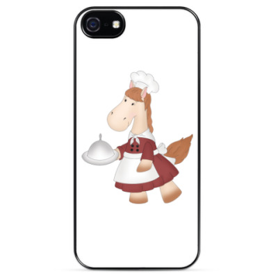 "Чехол для iPhone Чехол для iPhone 5 ""Лошадка Повар"""