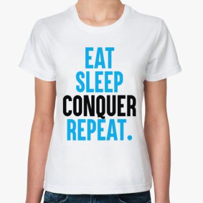 Классическая футболка Ешь, спи, Побеждай