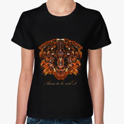 Женская футболка Огненный тигр