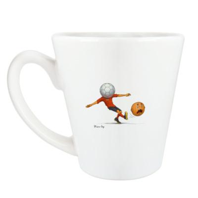 Чашка Латте Тыква Футбол soccer