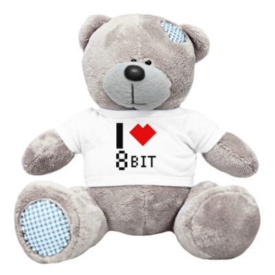Плюшевый мишка Тедди I heart 8-bit Мишка