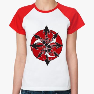 Женская футболка реглан  Sepultura