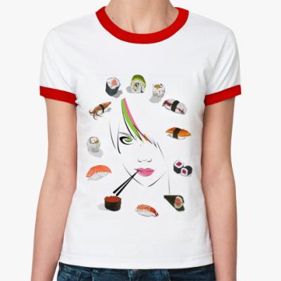 Женская футболка Ringer-T Ассорти  Ж(б/к)