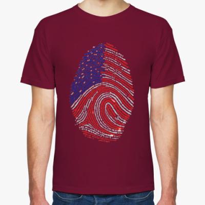 Футболка USA отпечаток