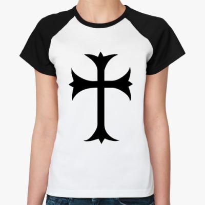 Женская футболка реглан Крест