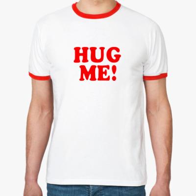 Футболка Ringer-T  'HUG ME!'