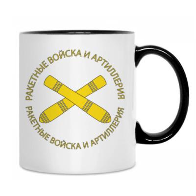 Кружка с эмблемой Ракетных войск и Артиллерии