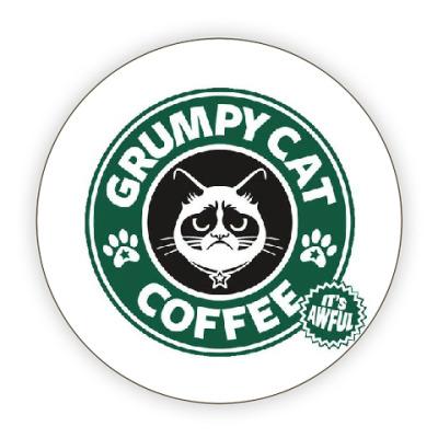 Костер (подставка под кружку) Grumpy Cat coffee