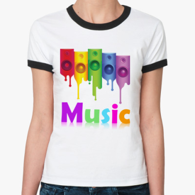 Женская футболка Ringer-T   Music,Hard,