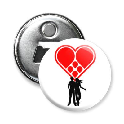 Магнит-открывашка Любовная пара