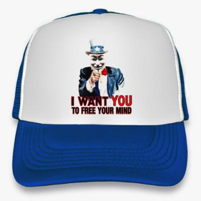 Кепка-тракер Anonymous Uncle Sam