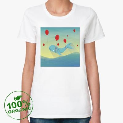 Женская футболка из органик-хлопка Кит