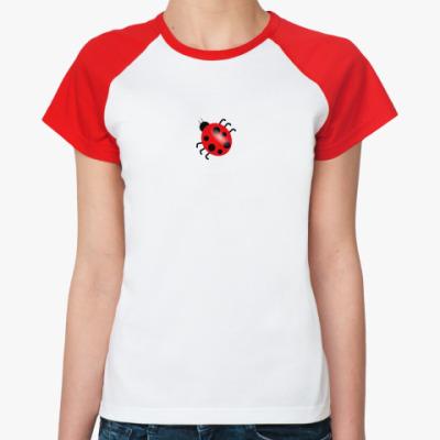 Женская футболка реглан божья коровка