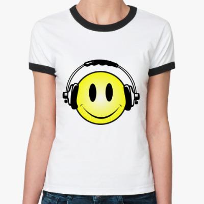 Женская футболка Ringer-T Смаил