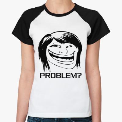 Женская футболка реглан GirlTroll