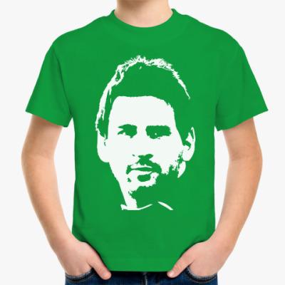Детская футболка Messi face