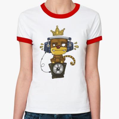 Женская футболка Ringer-T Funky Monkey