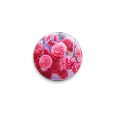 Значок 25мм зимняя ягода