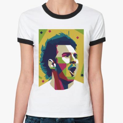 Женская футболка Ringer-T Color Messi