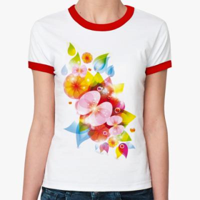 Женская футболка Ringer-T Цветомания