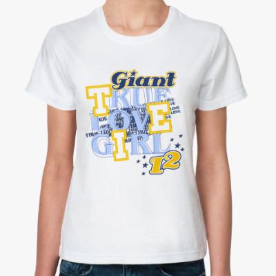 Классическая футболка True love girl