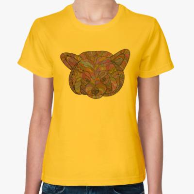 Женская футболка Красивая мини-панда в необычном стиле.