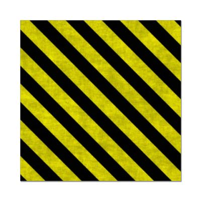 Наклейка (стикер) Диагональные полосы опасности