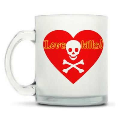 Кружка матовая Love kills!
