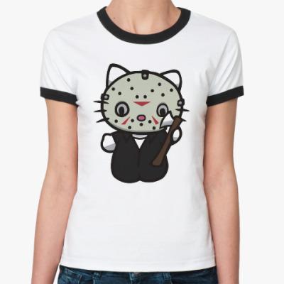 Женская футболка Ringer-T Китти Джейсон