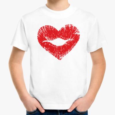 Детская футболка Поцелуй