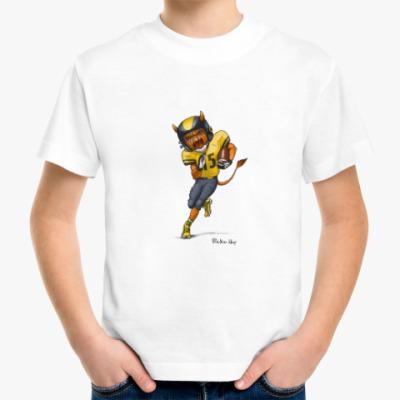 Детская футболка Тыква Американский футбол