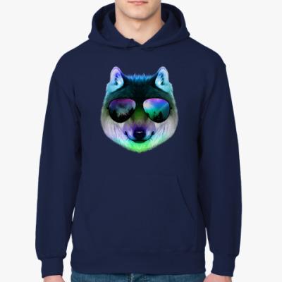 Толстовка худи Волк в очках