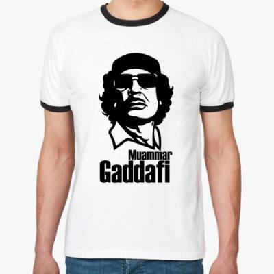 Футболка Ringer-T  Каддафи