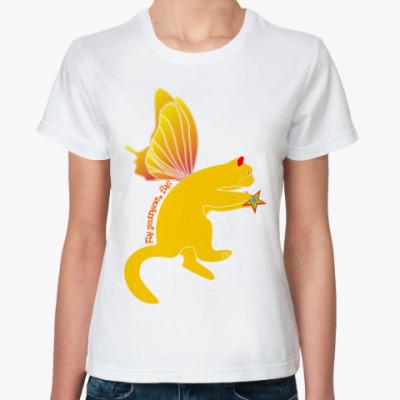 Классическая футболка Флайпусик жёлтый