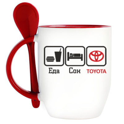 Кружка с ложкой Toyota