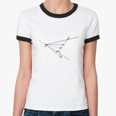 Женская футболка Ringer-T  Математика