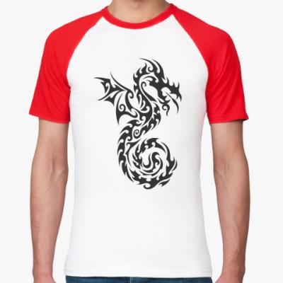 Футболка реглан дракон