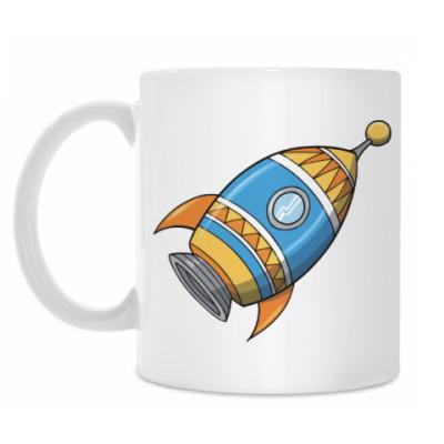 Кружка Космос. Ракета.