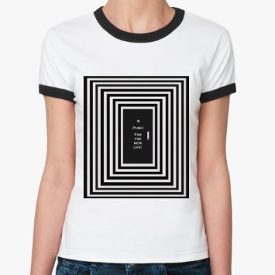 Женская футболка Ringer-T   Push!