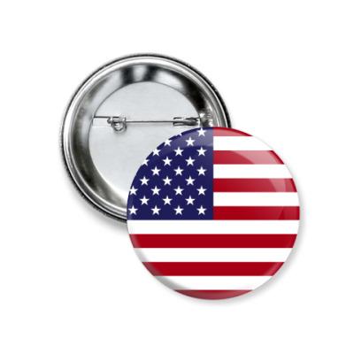 Значок 37мм США, USA, Америка