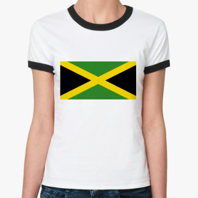 Женская футболка Ringer-T  Ямайка
