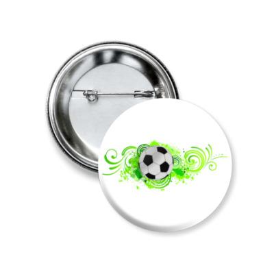 Значок 37мм Футбольный мяч