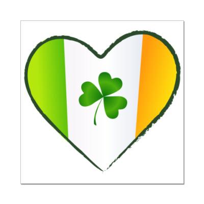 Наклейка (стикер) Love Ireland