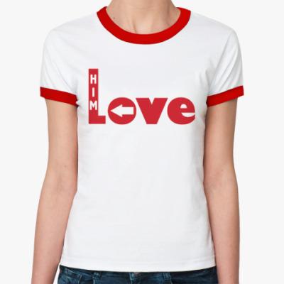 Женская футболка Ringer-T Люблю его