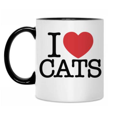 Кружка I love cats!