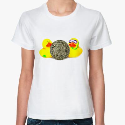 Классическая футболка Уточки и календарь майя