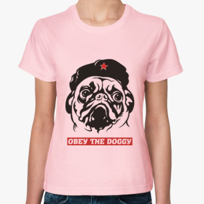 Женская футболка Obey the doggy