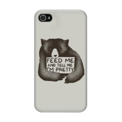 Чехол для iPhone 4/4s Покорми меня